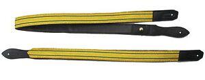 Sword-Sling-Gold-2-Green-Strips-on-Black-Leather-Long-amp-Short-R1809