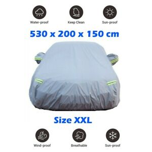 Size-XXL-Outdoor-Indoor-Waterproof-Universal-Car-Cover-Heavy-Duty-Cotton-Lined