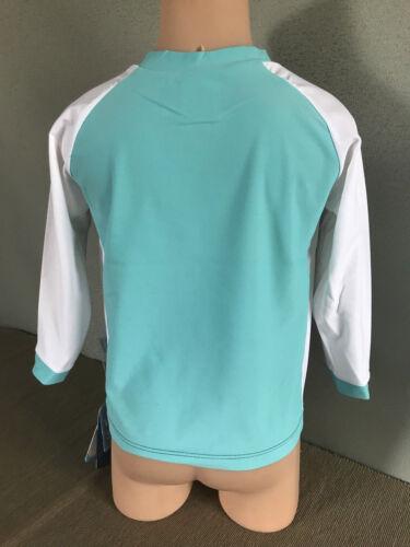 BNWT Boys Size 1 White Soda Brand Blue//Navy//White Long Sleeve Rash Vest UPF 50+