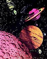 Blacklight Tapestry outer Space 23 X 28 - Free Shipping