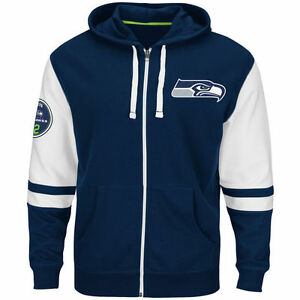 NEW Mens MAJESTIC Seattle Seahawks NFL 1976 Navy Free Pace ...