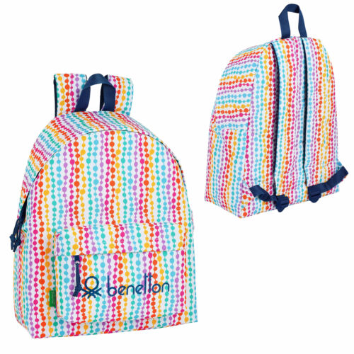 Benetton Backpack Rucksack Travel Holiday Office School Bag PEARLS OFFICIAL