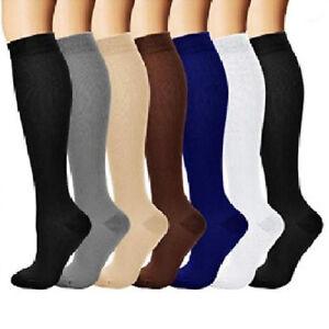 KE-ALS-Running-Sports-Solid-Athletic-Medical-Compression-Socks-Long-Stockin