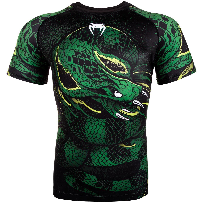 Venum Viper MMA Rash Guard BJJ Short Sleeve Mens Green Compression Top