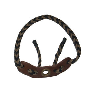 Bow-Wrist-Sling-Strap-Braided-Leather-Strap-For-Outdoor-Archery-Hunting