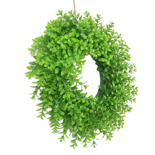 Garland Green Leaf Wire Vine Rattan Artificial Flower Hanging DIY Wreath