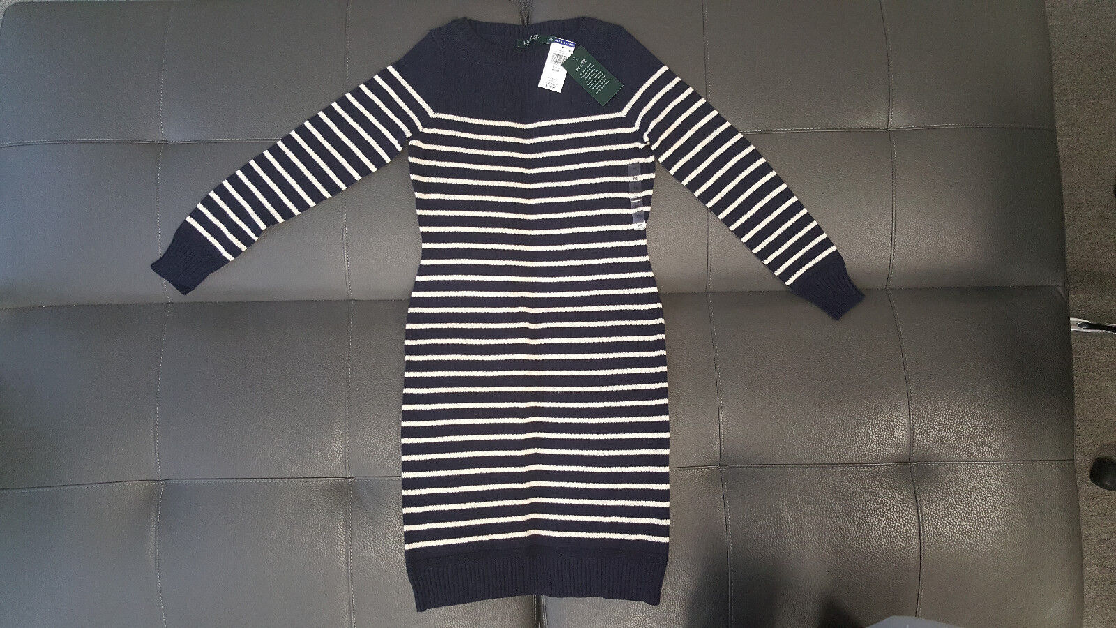 Lauren Ralph Lauren bluee Women Striped Sweater Dress Size  PS P ()