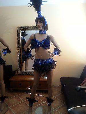 www.SambaDrome.com.au REDRED Feather Bikini Set-34 inches Skirt-AU size 10-12 Feather Beads Bikini Set-Brazilian Samba Carnival View