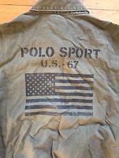 Vtg Polo P-Wing Indian Head Stadium Bear Polo Sport Flag Jacket Medium Rare
