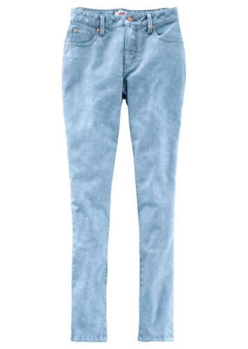 John Baner stretch-Jeans skinny long pantalon denim bleu clair blanchies 906624