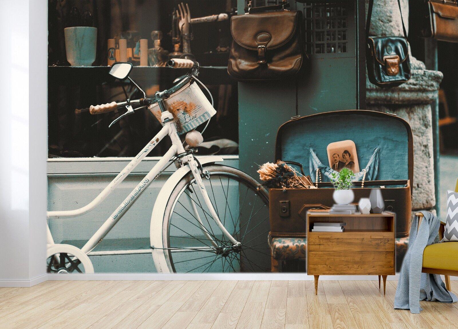 3D Bicycle bluee 7071 Wallpaper Mural Paper Wall Print Indoor Murals CA Summer