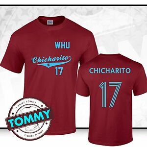best loved 59ece 3d44f Details about West Ham Chicharito #17 T-Shirt COYI Javier Hernandez Hammers  Tee