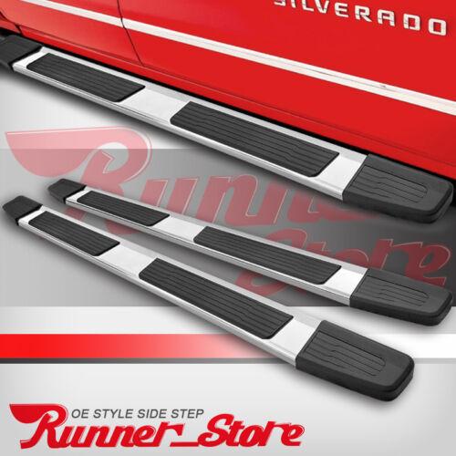 """For 07-18 Silverado//Sierra Crew Cab 6/"""" Running Board Nerf Bar Side Step Chrome S"""