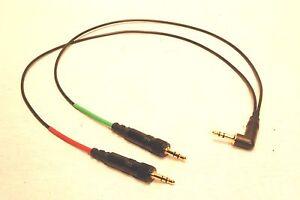 SENNHEISER WIRELESS AUDIO INPUT CABLE NIKON CANON (2) 3.5mm LOCKING 3.5mm 2 TRK