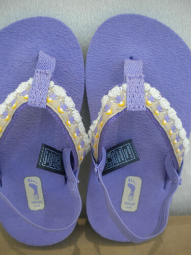 TEVA MUSH~INFANT//BABY//TODDLER FLIP-FLOPS~HULA GIRL LAVENDER MOST SIZES~ NEW