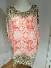 CHICO'S Pullover Sheer Shirt Dolmen Sleeves Blouse Women's XL Top Size 3
