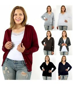 NEW-Boyfriend-Medium-weight-LONG-Sleeve-Sweater-Cardigan-XL-1X-2X-3X-FREE-SHIP