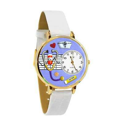 Generous Nurse Purple Watch In Gold large Whimsical Gifts G-0620042