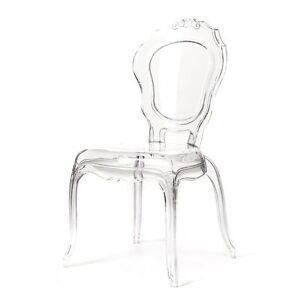 French Style Ghost Chair Transparent Clear Dinning Chair Ebay