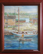 Childe Hassam Oyster Sloop Clifford Heinzerling Reproduction Watercolor Painting