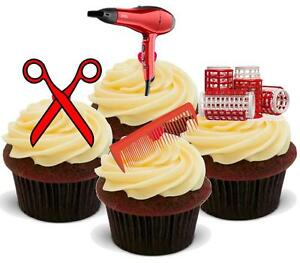 Image Is Loading Novelty Hairdressing Red Mix Stand Up Icing Edible