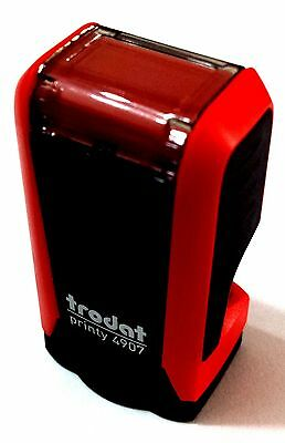 Trodat Printy 4907 Self Inking Rubber Text & Logo Stamp 13x6mm (up to 1 Line)