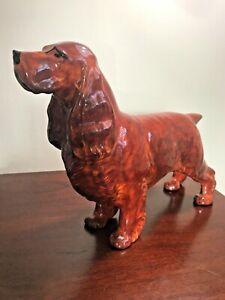 Cocker-Spaniel-Figurine-Ceramic-7-034-Tall-9-034-With-1-Lb-Weigh-Imposing-Figure