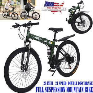 Disc Brake Full Suspension Mountain Bike 21 Speed Women/&Men/'s Bikes Bicycle MTB