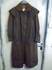 BACKHOUSE BARBOUR Stockman piena lunghezza Riding Cerato Cappotto Giacca Taglia c38 97cm S
