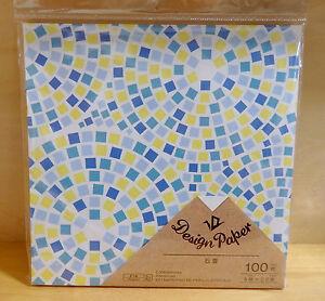 Japanese Origami Folding Craft Paper Chiyogami Cute Cobblestone Design