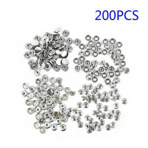 50-Pcs-Metal-Studs-Buttons-Snap-Fastener-15mm-No-Sewing-Press-Crafts-Sewing-Lot