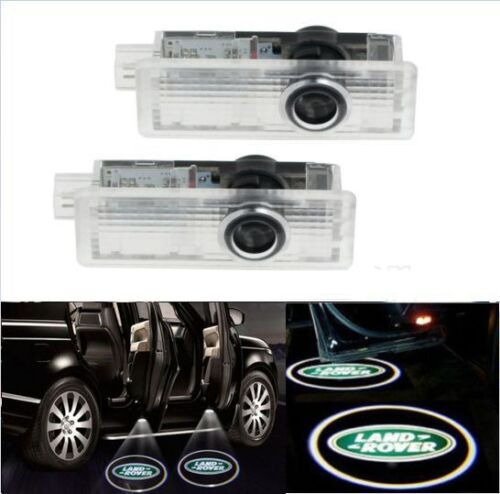 2x CREE LED Door For Land Range Rover Projector Puddle Shadow Laser Light Logo