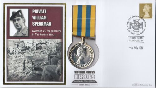 (46884) GB Replica Medal Benham Cover Private William Speakman - 4 November 2008