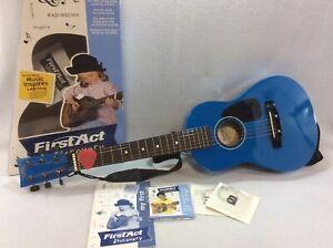 IngéNieux Vintage First Act Discovery Acoustique Bleu Guitare Modèle No. Fg 122.-afficher Le Titre D'origine