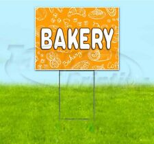 Bakery 18x24 Yard Sign With Stake Corrugated Bandit Usa Business Pastries