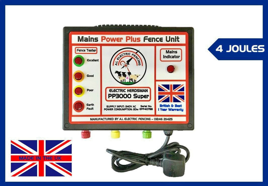 Electric Fence Energiser,Mains Electric Fence Unit,Electric Fencing,FREE POSTAGE