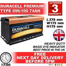 Duracell Genuine Heavy Duty Car Battery Type 096 100 72ah 4 Year Guar 24hr
