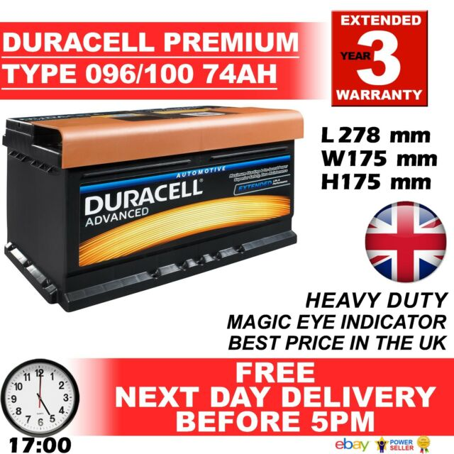 Duracell Car Battery Review >> Duracell Genuine Heavy Duty Car Battery Type 096 100 72ah 4 Year Guar 24hr