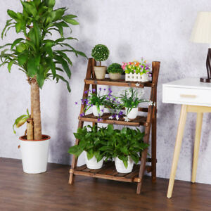 Image Is Loading 3 Tier Corner Plant Stands Flower Stand Ladder