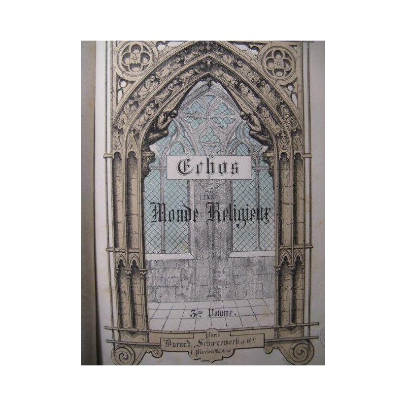 Anklänge an die Monde religiös v3 Orgel Chant 1883 Partitur sheet music score
