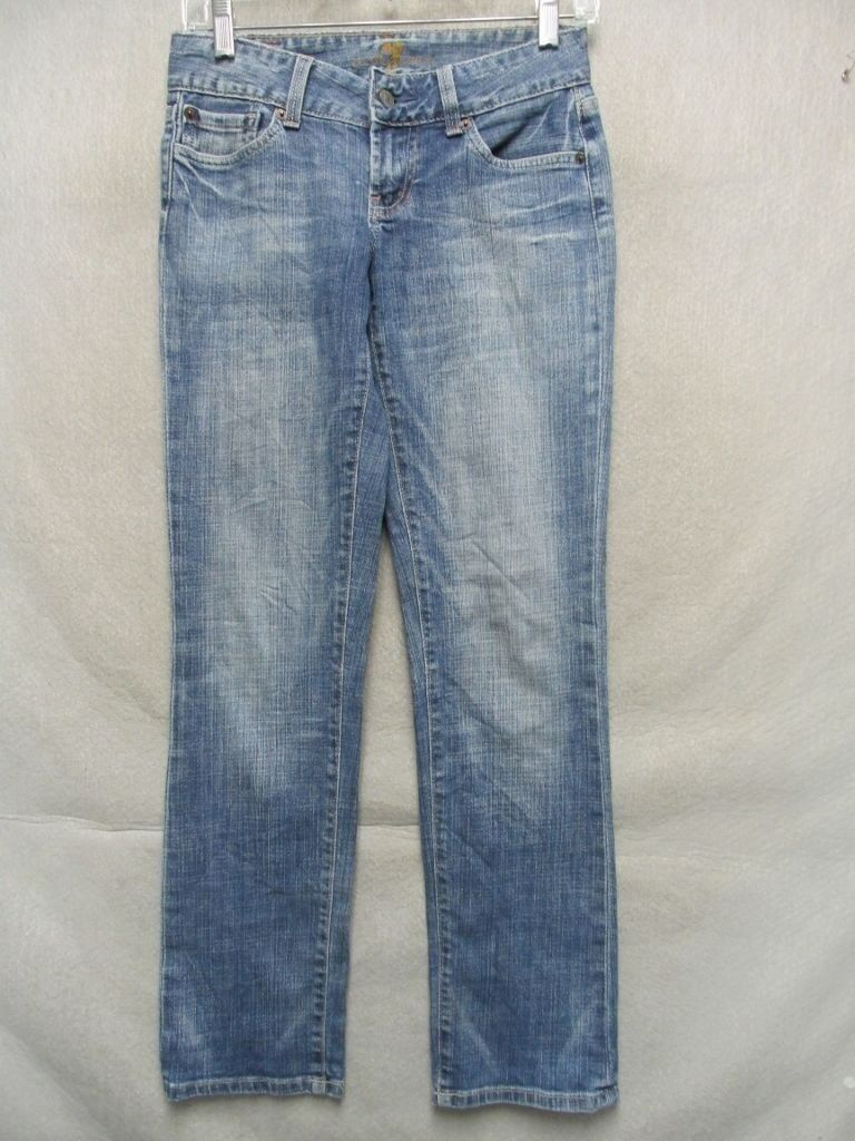 D7481 7 For All Mankind USA Made Straight Killer Fade Jeans Women's 27x30