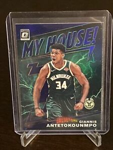 2019 - 2020 Panini Optic Giannis Antetokounmpo My House Purple Prizm SP Bucks