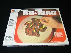 Vintage Tri Trac Game Milton Bradley 1980; Exciting Two Player Strategy Game