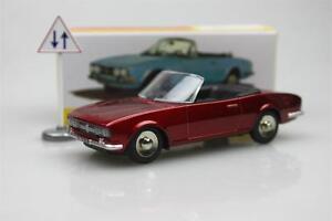 1423-Cabriolet-504-DARK-DINKY-TOYS-ATLAS-in-LEGA-PEUGEOT-AUTO-MODELLO-ROADSTER-1-43