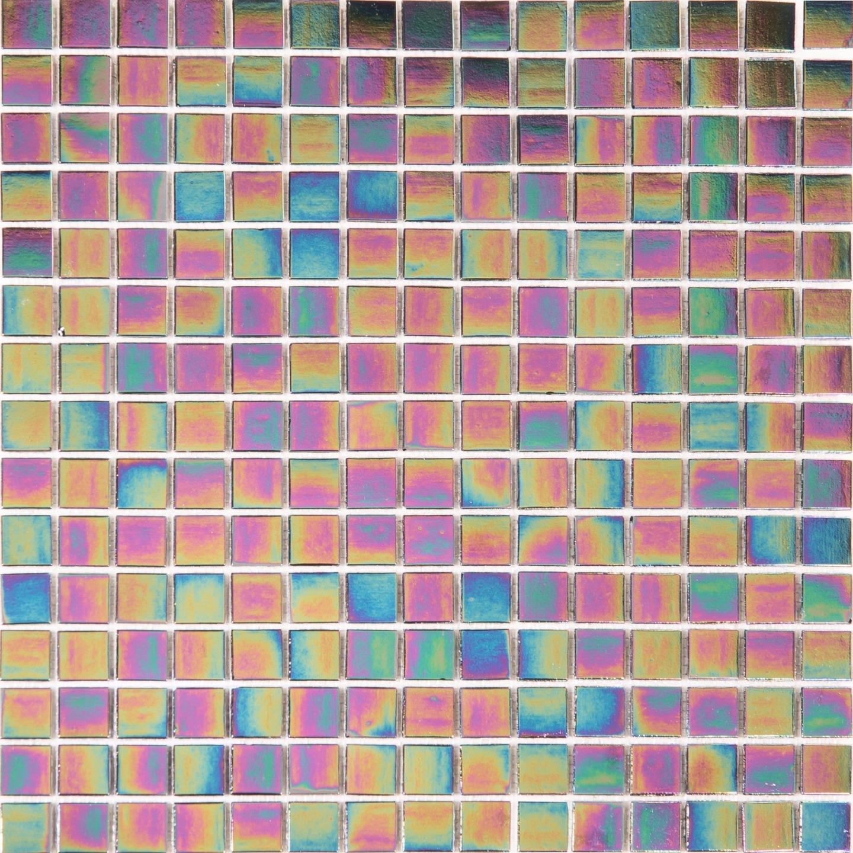 1 SQ M lila Iridiscent Vitreous Glass Mosaic Tile Sheet 327x327x4mm (MT0141)