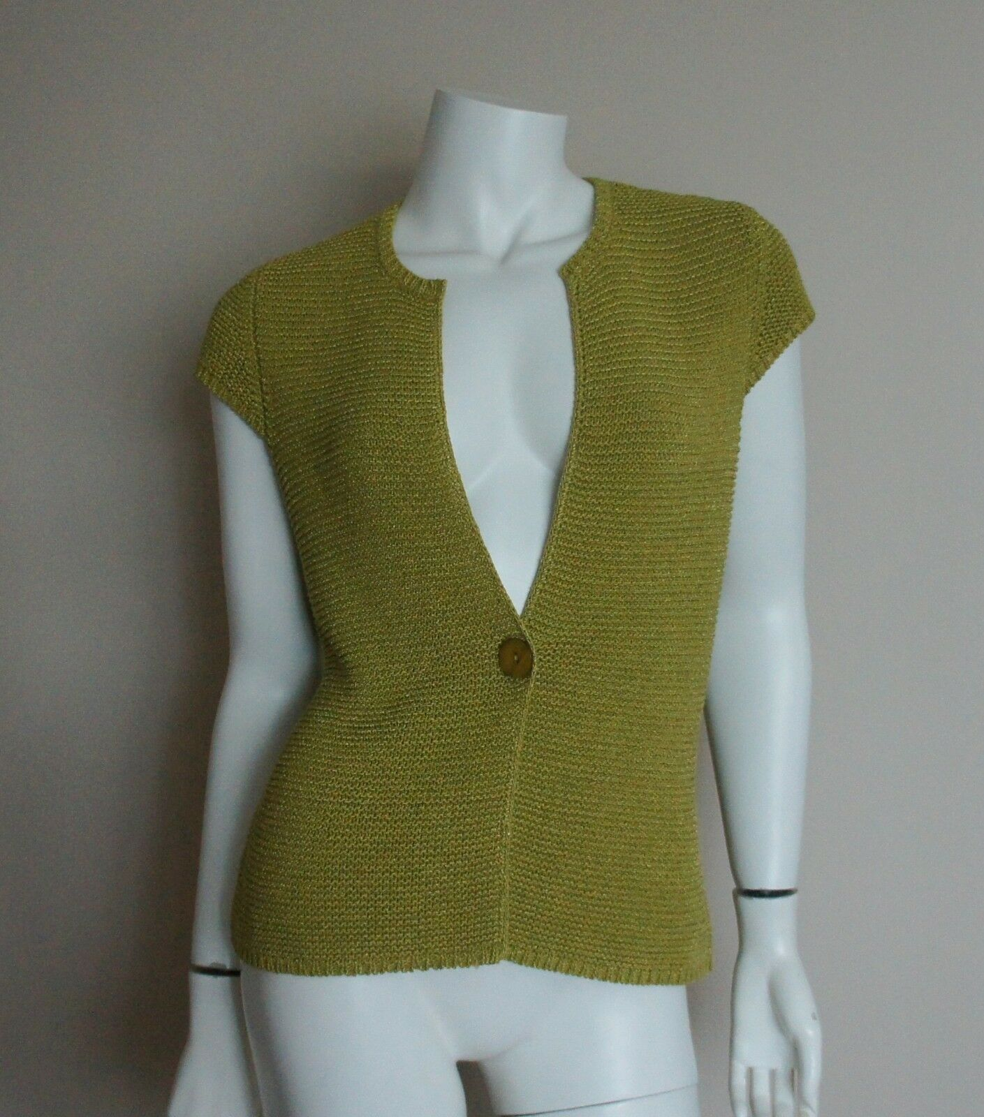 Jones New York Collection Green Knit Vest Sweater Size S