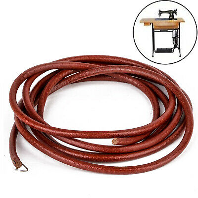 "72/"" 183cm Leather Belt Antique Treadle Parts Hook For Singer Sewing Machine FA"