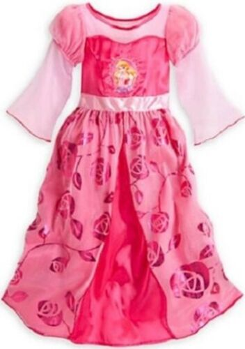 Disney Store Sleeping Beauty Pink Nightgown Aurora Rose Night Gown Dress up NEW