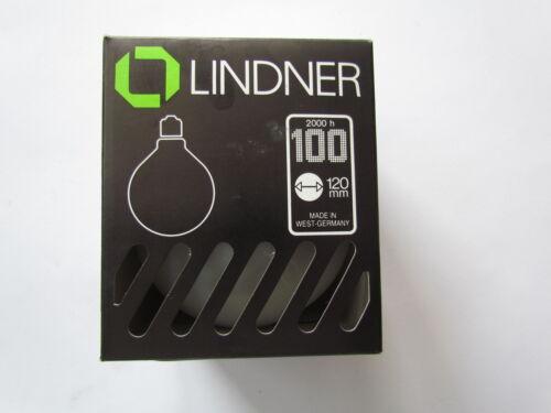 LINDNER Globelampe globe g120 satiné e27 100w Ampoule 2000h GERMANY