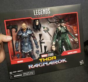 Marvel Legends 80th Anniversary Thor Ragnarok Skurge /& Hela 2-Pack